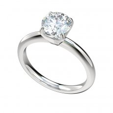 Solitaire Half Round Shank Engagement Ring