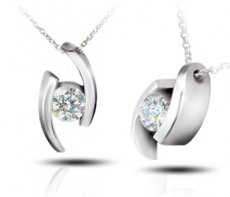 Embraced Pendant Set With a Russian Brilliants® Diamond Simulant