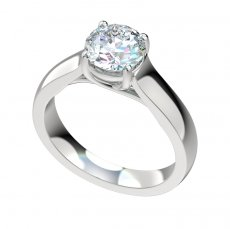 Cathedral Trellis Wide Solitaire Engagement Ring