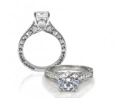 Romantic Custom Ring Accented With Natural Diamonds