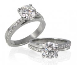 Lovely Custom Ring Accented With Natural Diamonds