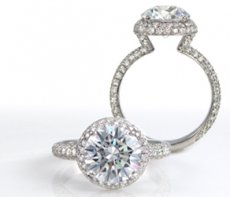 Stunning Ultra Elegant Microset Pave Natural Diamonds