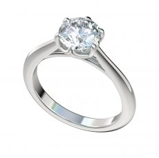 Cathedral Six Prong Solitaire Engagement Ring