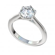 Cathedral Six Prong Trellis Solitaire Engagement Ring