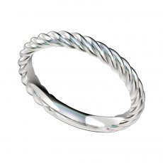 Cable Design Wedding Band 2.6mm Wide