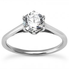 Cathedral 6 Prong Round Solitaire Engagement Ring