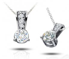 Diamond and RB Pendants