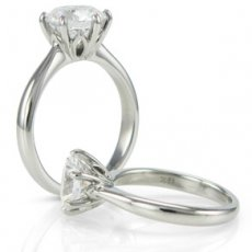 Floral Design Solitaire Engagement Ring