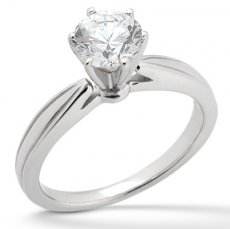 Low Cathedral solitaire engagement ring