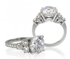 Feminine Custom Ring Accented With Natural Diamonds