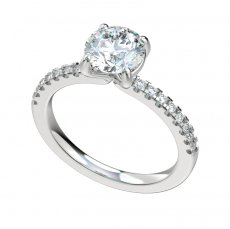 Engagement Ring With 0.24ctw Prong Set Diamond Shank