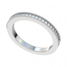Bead Set Diamond Band 0.15ct Total Weight With Milgrain Edge