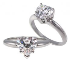 Classic Heart Shape Solitaire Set in Basket Style Setting