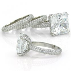 Exquisite Micropave Wedding Trio