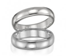 Wedding Band - Comfort Fit Half Round with Smooth Finish