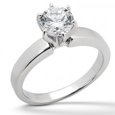 3.75mm Wide Solitaire Engagement Ring