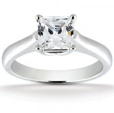 Now & Forever Square Cathedral Solitaire Engagement Ring