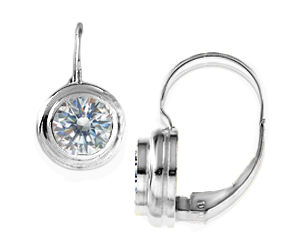Double Bezel Lever Back Earrings Rb20032 Pretty Bezelset 337 50 Russian Brilliants