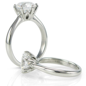 floral design solitaire engagement ring mb910 russian brilliants