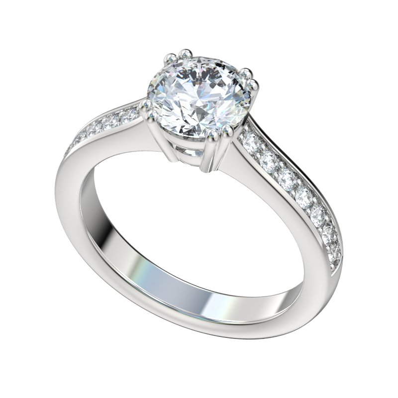 Basket Setting Engagement Ring Engagement Rings Simulated Diamonds